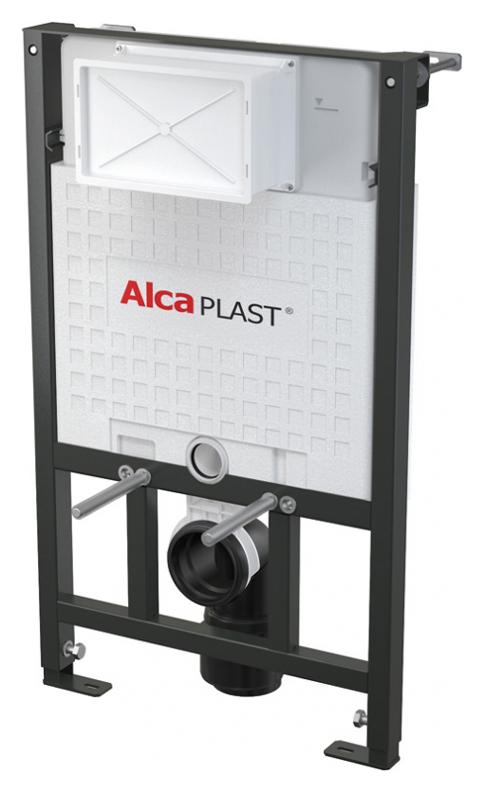 Sadromodul A101/850 Хром/ЧерныйИнсталляции<br>Система инсталляции для унитазов AlcaPlast Sadromodul A101/850.Материал несущей конструкции - металл обработанный порошковой краской. Подвод воды к задней стенке бачка или сверху бачка с помощью монтажных отверстий G1/2. Монтажная глубина рукава регулируется от 20 до 95 мм. Монтажная глубина – 125 мм, со стоковым коленом – 160 мм. Объем смывного бачка 6/9 л. Самонесущая рама. Несущая способность 400 кг. Установленная система закрывается гипсокартонными листами и не нуждается в дополнительных крепёжных элементах. Конструкция полистирольной изоляции, предотвращает процесс конденсации на поверхности бачка и ослабляет вибрацию в строительной конструкции.<br>