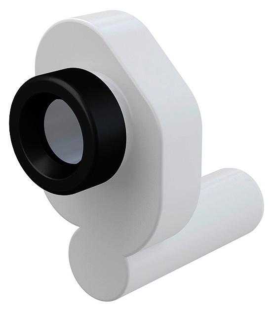 A45B БелыйКомплектующие<br>Сифон для писсуара AlcaPlast A45B горизонтальный. Для слива диаметром 5 см. Диаметр подключения 5 см.<br>