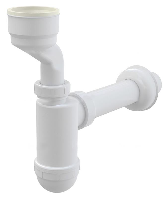 A45A БелыйКомплектующие<br>Сифон для писсуара AlcaPlast A45A с манжетой. Для слива диаметром 5 см. Диаметр подключения 4 см. Возможность регулировки по высоте 3.5 см. Без гидрозатвора.<br>