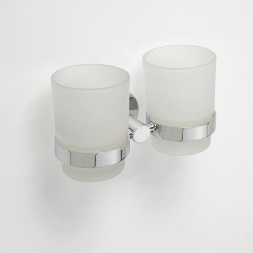 Omega 104110022 ГлянецАксессуары для ванной<br>Держатель для стаканов Bemeta Omega 104110022 двойной. Цвет глянец.<br>