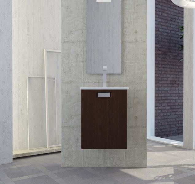 Твист 1 41 L подвесная ЛанселотМебель для ванной<br>В стоимость входит тумба с раковиной Sanvit Твист 1 41 L. Тумба подвесная с одной распашной левой дверцей и амартизатором плавного закрывания, раковина керамика. Зеркало приобретается отдельно.<br>