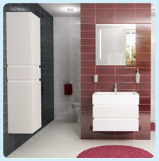 Рубин 90 белаяМебель для ванной<br>Рубин 90 подвесная тумба под раковину.<br>