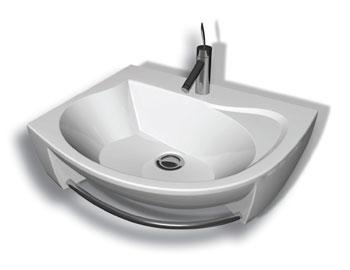 Rosa белая RРаковины<br>Раковина для ванной комнаты Ravak Rosa R. Изготовлена из литого мрамора. Самая маленькая из концепции Rosа.<br>