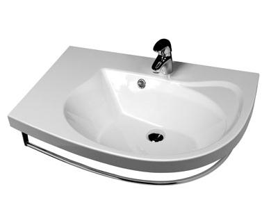 Rosa Comfort белая N LРаковины<br>Раковина Rosa Comfort с тумбой. Артикул XJ8L11N0000. Комбинируется с тумбой SDU Rosa Comfort, смесителем для умывальникa, зеркалом M 780. В дополнение возможность установки ванны (Rosa l; Rosa ll) или душевого уголка с мебелью  и аксессуарами RAVAK и Chrome. Поставляется с отверстием 35 мм. под смеситель.<br>
