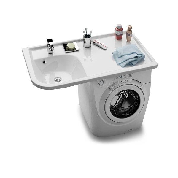 Praktik W белая RРаковины<br>Раковина Ravak Praktik W R. Предназначена для размещения над стиральной машиной глубиной 60 см. Отверстие под смеситель 35 мм.<br>