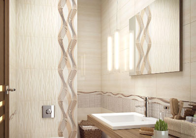 Керамическая плитка Ceramika Paradyz Sari beige inserto 25x40 декор