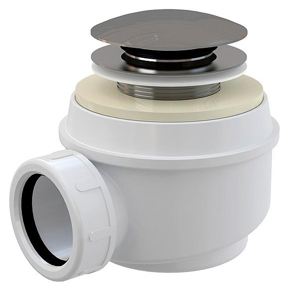 A465+KOLENO Хром/БелыйКомплектующие<br>Сифон для поддона AlcaPlast A465+KOLENO. Для слива диаметром 5.2 см. Диаметр подключения 4 см. Самоочищающаяся конструкция сифона. Сифон может быть изготовлен со специальной подводкой для отвода конденсата. В комплекте ключ для правильной установки сифона. Хромированая заглушка. Система click/clack.<br>