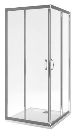201 80х80 KAAC.1802.800 80x80Душевые ограждения<br>Душевой уголок Excellent 201 80х80 KAAC.1802.800 квадратный. Высота 1900 мм. Ширина двери 405 мм. Раздвижные двери. Стекло закаленное прозрачное толщиной 5 мм. Профиль алюминиевый, цвет хром. Водоотталкивающее покрытие easyclean.<br>