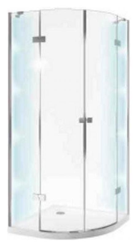 Light 90х90 KAEX.DY-DX392.90.CRLI 90x90Душевые ограждения<br>Душевой уголок Excellent Light 90х90 KAEX.DY-DX392.90.CRLI четверть круга с распашными дверями и системой хромотерапии. Высота 2000 мм. Закаленное прозрачное стекло толщиной 6 мм. Профиль алюминиевый, цвет хром. Водоотталкивающее покрытие EasyClean. Душевой поддон в комплект поставки не входит. Рекомендуемые поддоны: Sense, Sense Compact.<br>