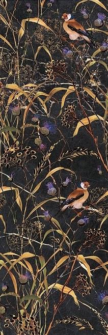 Керамический декор Kerama Marazzi Астория птицы черный обрезной 25х75 см фото
