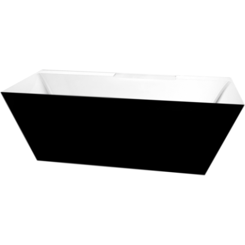 BB19-NERO/BIA 181x81 без гидромассажаВанны<br>Акриловая ванна BelBagno BB72-1700 170x78 отдельностоящая, прямоугольная, с широким бортиком, с удобным наклоном для спины с двух сторон.<br>Цвет внутренней стороны: белый. <br>Цвет внешней стороны: черный. <br>Материал: высококачественный листовой акрил.<br>Прочность в сочетании с малым весом.<br>Эффективное звукопоглощение.<br>Гладкая, не скользкая и теплая на ощупь поверхность.<br>Акрил быстро нагревается и долго сохраняет тепло.<br>Неприхотливость в уходе.<br>Расположение слива: в центре.<br>Диаметр сливного отверстия: 5,5 см.<br><br>В комплекте поставки:<br>чаша ванны.<br><br>