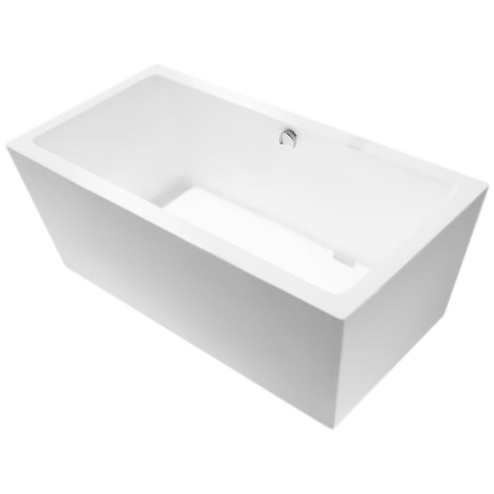 BB55-1600 160x80 без гидромассажаВанны<br>Акриловая ванна BelBagno BB55-1600 160x80 отдельностоящая, прямоугольная, с широкими бортиками, с удобным наклоном для спины с двух сторон.<br>Материал: высококачественный листовой акрил.<br>Прочность в сочетании с малым весом.<br>Эффективное звукопоглощение.<br>Гладкая, не скользкая и теплая на ощупь поверхность.<br>Акрил быстро нагревается и долго сохраняет тепло.<br>Неприхотливость в уходе.<br>Расположение слива: в центре.<br>Диаметр сливного отверстия: 5,5 см.<br><br>В комплекте поставки:<br>чаша ванны;<br>слив-перелив цвета хром.<br><br>