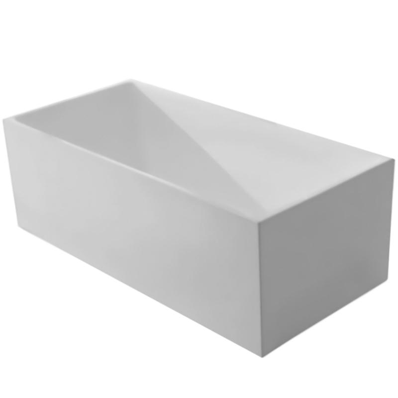 BB56 160x75 без гидромассажаВанны<br>Акриловая ванна BelBagno BB56-1600 160x75 отдельностоящая, прямоугольная, с удобным наклоном для спины с двух сторон.<br>Материал: высококачественный листовой акрил.<br>Прочность в сочетании с малым весом.<br>Эффективное звукопоглощение.<br>Гладкая, не скользкая и теплая на ощупь поверхность.<br>Акрил быстро нагревается и долго сохраняет тепло.<br>Неприхотливость в уходе.<br>Расположение слива: в центре.<br>Диаметр сливного отверстия: 5,5 см.<br><br>В комплекте поставки:<br>чаша ванны;<br>слив-перелив цвета хром.<br><br>