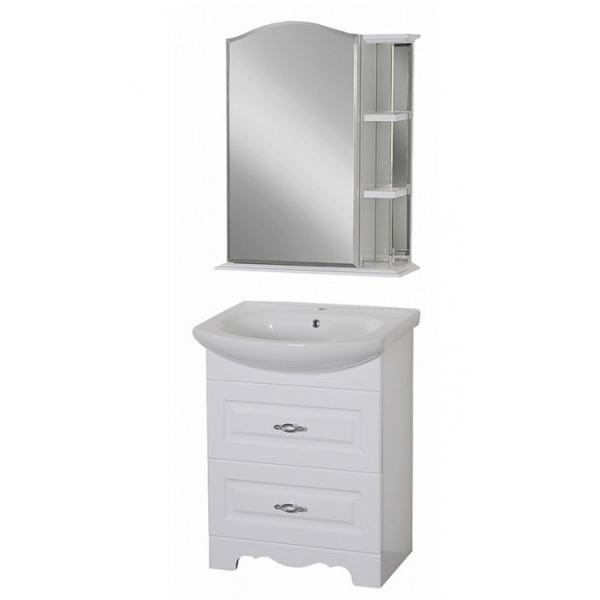 Дублин 65 Белая матоваяМебель для ванной<br>Тумба под раковину Aqualife Design  Дублин 65, с 2 ящиками.  Стоимость указана только за тумбу. Дополнительно вы можете приобрести раковину, шкаф-пенал и зеркало.<br>