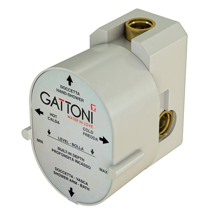 Gbox SC0560000 БелыйСмесители<br>Универсальная монтажная коробка Gattoni Gbox SC0560000 под встраиваемый смеситель для душа с 1-м выходом.<br>