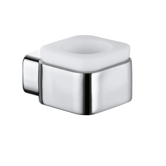 E2 5698305 Хром/БелыйАксессуары для ванной<br>Подсвечник Kludi E2 5698305. Монтаж настенный. Материал стакана выдувное опаловое стекло, белое, матовое. Материал держателя латунь.<br>