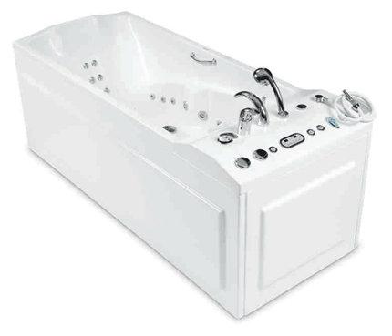 Orion 214 x 85 с гидромассажемВанны<br>Прямоугольная гидромассажная ванна Pool Spa Orion 214 x 85. В комплектацию включены: гидро- и аэромассажные системы, система дезинфекции, подача теплой и холодной воды из водопроводной сети, подсветка, гидромассаж спины, гидромассаж ног, смеситель и ручная лейка. Все дополнительные комплектующие приобретаются отдельно.<br>