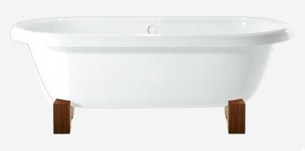 Memory 170 x 76 Ванна + ножки деревянные (красное дерево) + слив-перелив с пробкой (хром)Ванны<br>Ванна Pool Spa Memory 170 x 76 в классическом стиле, выполненная из акрила белого цвета. Ванна отдельностоящая, овальной формы, в комплекте с деревянными ножками  (цвет – красное дерево) и сливом-переливом с пробкой (хром).  Все дополнительные комплектующие приобретаются отдельно.<br>