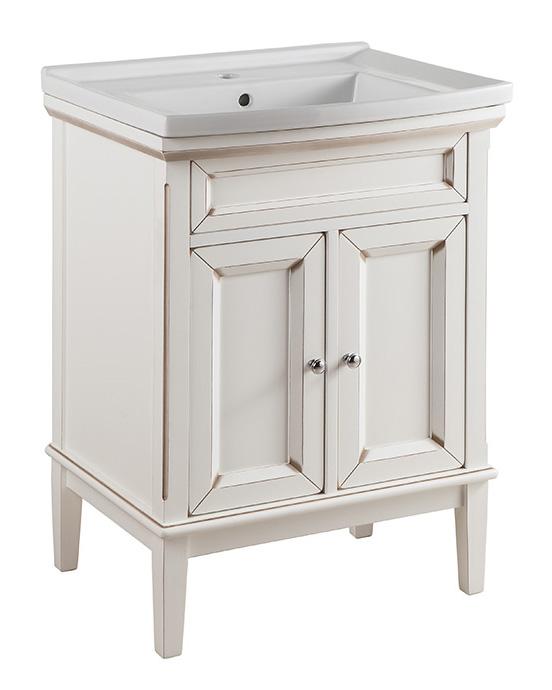 Джардин 60 ONTANO (B 004)Мебель для ванной<br>Мебель для ванной Каприго Джардин 60. В стоимость входит тумба напольная под умывальник. С выдвижным ящиком и двумя распашными дверями. Размеры – 600x825x485 мм. Отделка – ONTANO. Варианты мебельных ручек – В 08, В 15, В 13. Дополнительно Вы можете приобрести раковину и зеркало. Размер тумбы с раковиной 610x876x490 мм.<br>