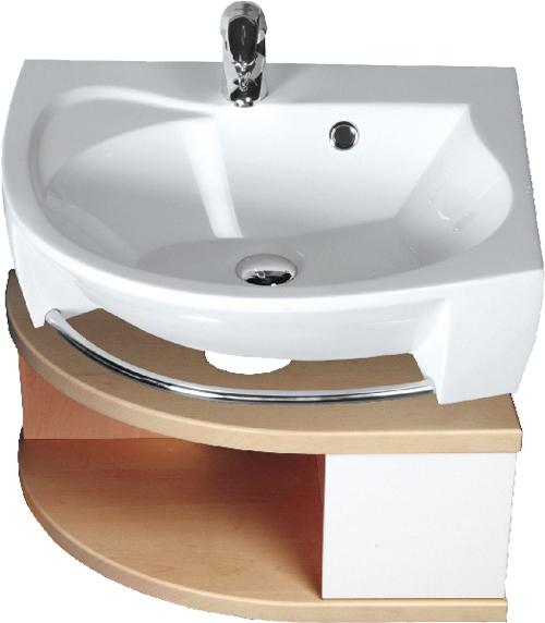 Тумба под умывальник SDU Rosa белая / белая RМебель для ванной<br>Угловая тумба под раковину Ravak SDU Rosa в правом исполнении. Тумбочка выполнена в современном стиле и отлично впишется в любой интерьер, а благодаря угловой конструкции позволит сэкономить немного места в ванной. Фасад тумбы под раковину выполнен в белом цвете. Все дополнительные комплектующие приобретаются отдельно.<br>
