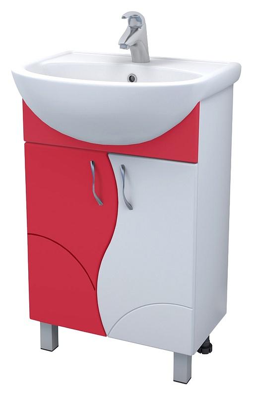 Alessandro 4 - 55 А-0-550В(Уют)-красн КрасныйМебель для ванной<br>Тумба Vigo Alessandro 4 - 55 А-0-550В(Уют) красная, с двумя распашными дверцами, на ножках.<br>