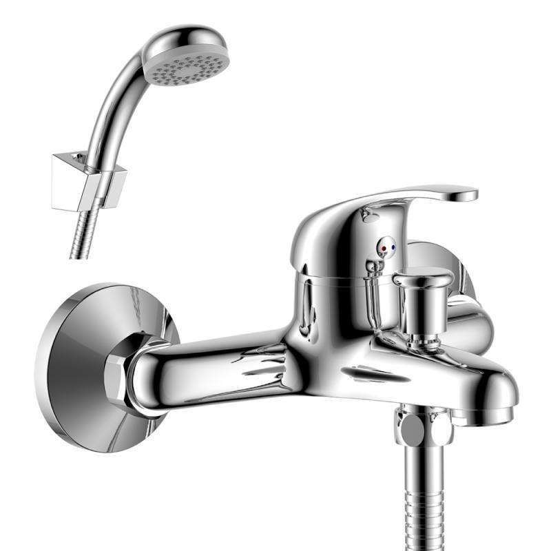 Y35-31 ХромСмесители<br>Смеситель для ванны Rossinka Y35-31 с монолитным изливом. Аксессуары в комплекте (шланг 1,5 м, настенное крепление, 1-функциональная лейка с функцией легкой очистки) Присоединительная группа (эксцентрики с отражателями) для вертикального крепления.<br>