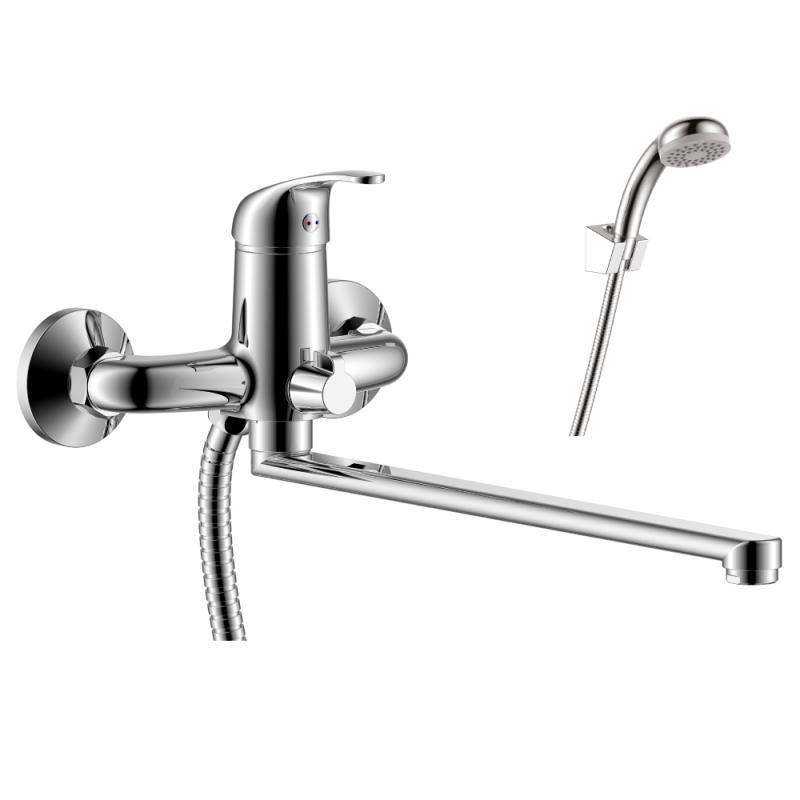 Y35-32 ХромСмесители<br>Смеситель Rossinka Y35-32 для ванны универсальный. Аксессуары в комплекте (шланг 1,5 м, настенное крепление, 1-функциональная лейка с функцией легкой очистки).<br>