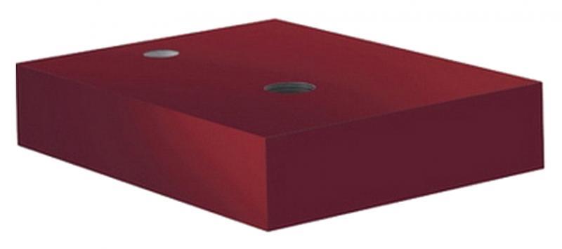 E2 56CM142 БордоМебель для ванной<br>Столешница Kludi E2 56CM142 бордо. Монтаж вертикальный подвесной. С 1-м отверстием для сифона и 1-м смесителя. Расположение смесителя справа.<br>
