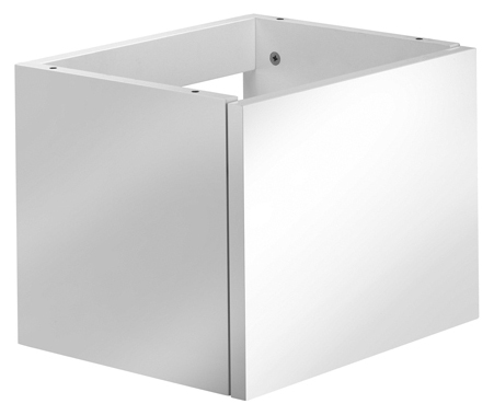 E2 56CMU43 БелаяМебель для ванной<br>Тумба под раковину Kludi E2 56CMU43. Размер 405х300х312 мм. Скрытый крепеж для столешницы. Для раковины 56 CM1. Дверь правая (с возможностью замены). 1 полочка (возможно изменение по высоте). Открывается нажатием.<br>
