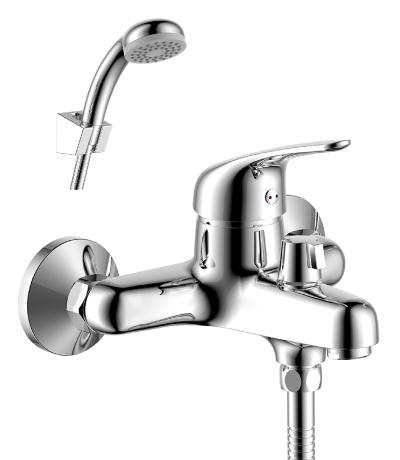 Y40-30 ХромСмесители<br>Смеситель Rossinka Y40-30 для ванны с коротким изливом. Диаметр картриджа 40 мм. Аксессуары в комплекте (шланг 1,5 м, настенное крепление, 1-функциональная лейка с функцией легкой очистки).<br>