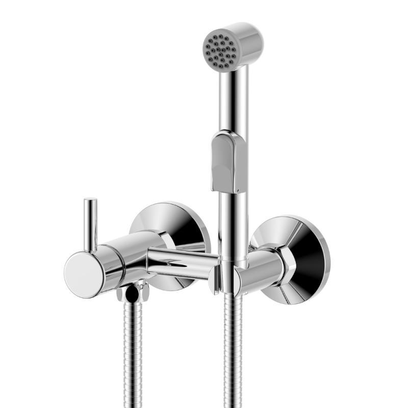 X25-52 ХромГигиенические души<br>Гигиенический душ со смесителем Rossinka X X25-52. Аксессуары в комплекте (шланг 1,2 м, лейка для биде с нажимным механизмом). Присоединительная группа (эксцентрики с отражателями) для вертикального крепления.<br>