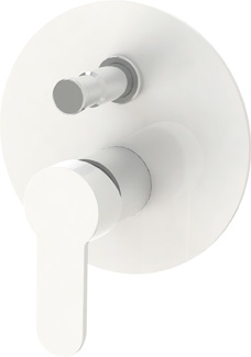 LACONICO-VDI-BLC БелыйСмесители<br>Встраиваемый смеситель Cezares LACONICO-VDI-BLC с переключателем, цвет белый<br>