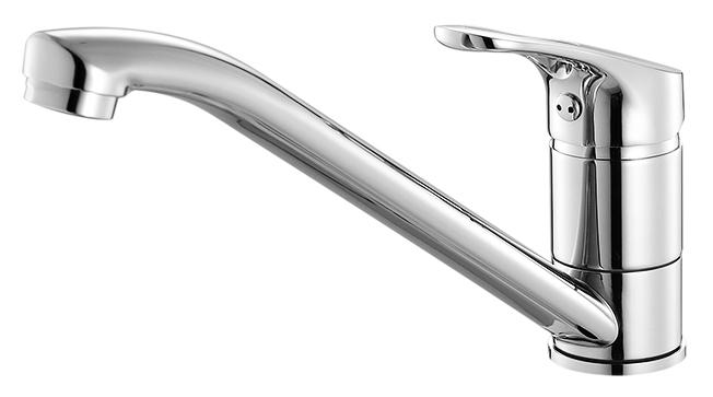 Neva NEVSB00M05 хромСмесители<br>Смеситель для кухни Milardo Neva NEVSB00M05, из латуни высокого качества ГОСТ 17711-93 и с многослойным, стойким к истиранию никель-хромовым покрытием корпуса. Поворотный излив, 360 градусов. Съемный пластиковый аэратор обеспечивает ровную струю, мягкий и экономичный поток воды. Долговечный керамический картридж, диаметром 35 мм.<br>