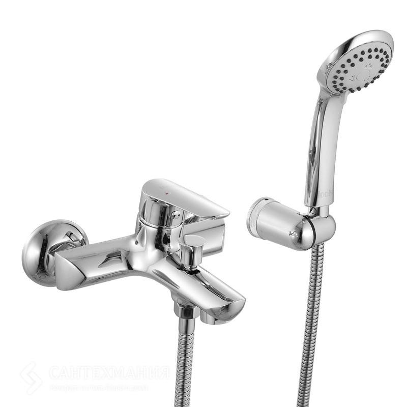 Custo CUSSB00i02 ХромСмесители<br>Смеситель Iddis Custo CUSSB00i02 для  ванны и душа, однозахватный. В комплекте с 3-х режимной душевой лейкой<br>