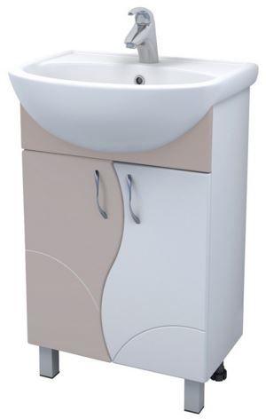 Alessandro 4 - 55 А-0-550В(Уют)-беж БежевыйМебель для ванной<br>Тумба под раковину Vigo Alessandro 4 - 55 А-0-550В(Уют)-беж с двумя распашными дверцами на ножках. Комплектуется раковиной Уют 55.<br>