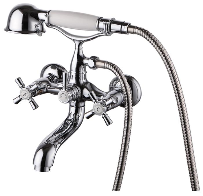 Rise RISSB02i02 ХромСмесители<br>Смеситель Iddis Rise RISSB02i02 для ванной. В комплекте: поворотный держат.ель на корпусе, душевой шланг 1,5м. (Twist Free, Double Lock), душевая ретро-лейка<br>