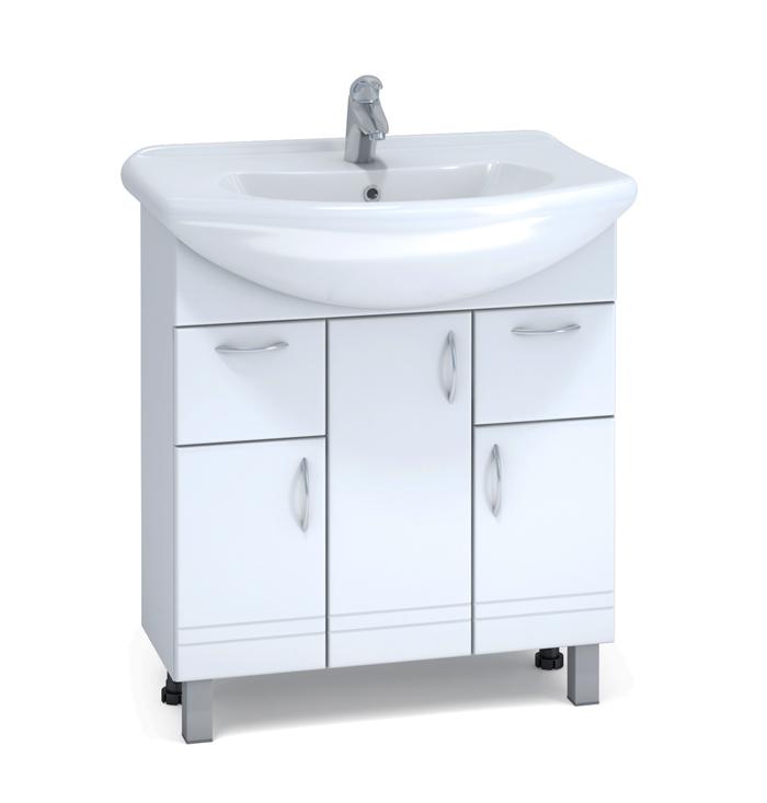 Alessandro 10 - 75 A-2-750(Модерн) БелыйМебель для ванной<br>Тумба Vigo Alessandro 10-75 с плавным закрыванием дверей. Фурнитура: шариковые направляющие, регулируемые опоры.<br>