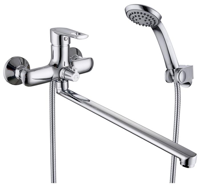 Runo RUNSBL2i10 ХромСмесители<br>Смеситель Iddis Runo RUNSBL2i10 для ванной. В комплекте: керамический  дивертор, керамический картридж Softap 35 мм.,душевая лейка 1 режим, шланг 1.5м. (Twist Free, Double Lock), держатель<br>