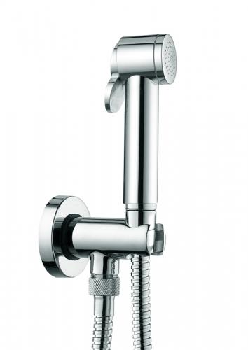 Paloma C69001B.030 ХромГигиенические души<br>Гигиенический душ Bossini Paloma C69001B.030 для биде, c держателем, встроенным блокиратором и выходом воды.<br>
