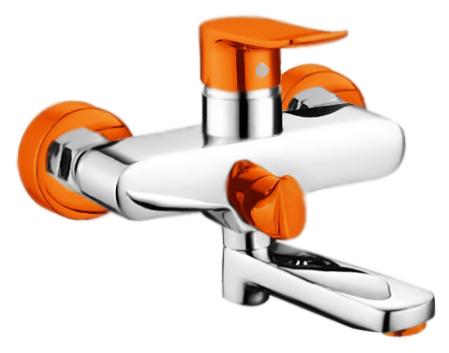 P3032-10 хром/оранжевыйСмесители<br>Смеситель для ванны Potato P3032-10 с керамическим картриджем 35 мм. Цена указана за смеситель и комплект крепления. Все остальное приобретается дополнительно.<br>