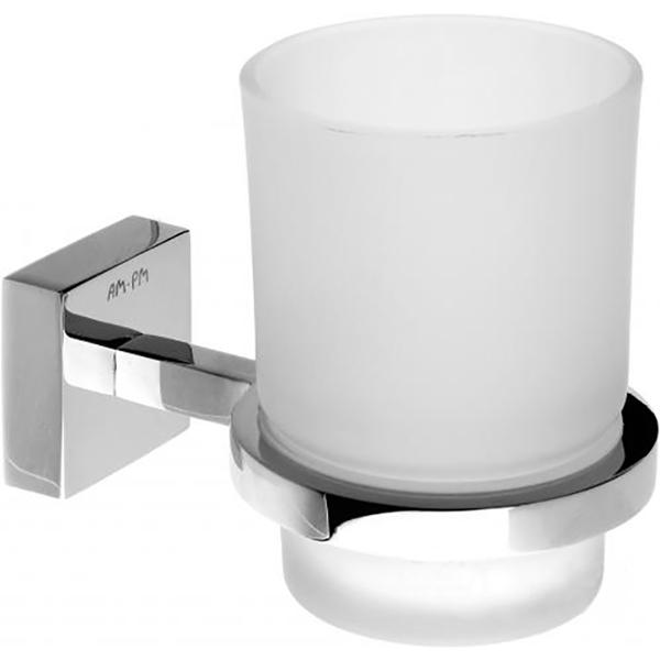 Joy A8534300 ХромАксессуары для ванной<br>Стеклянный стакан для зубных щеток с настенным держателем AM PM Joy A8534300.<br>