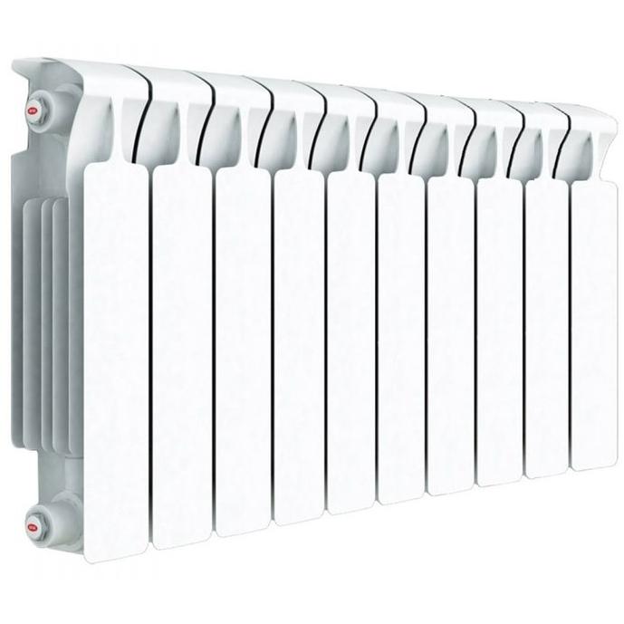 Биметаллический радиатор Rifar Monolit 500 10 секций с боковым подключением фото