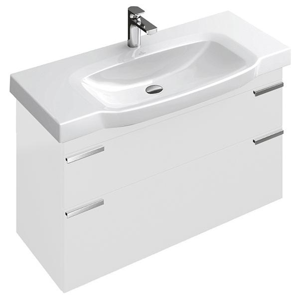 Sentique A85300DH подвесная БелаяМебель для ванной<br>Тумба под раковину Villeroy &amp; Boch Sentique A85300DH. Ручки хромированные. Комплект креплений. Цвет белый глянец.<br>