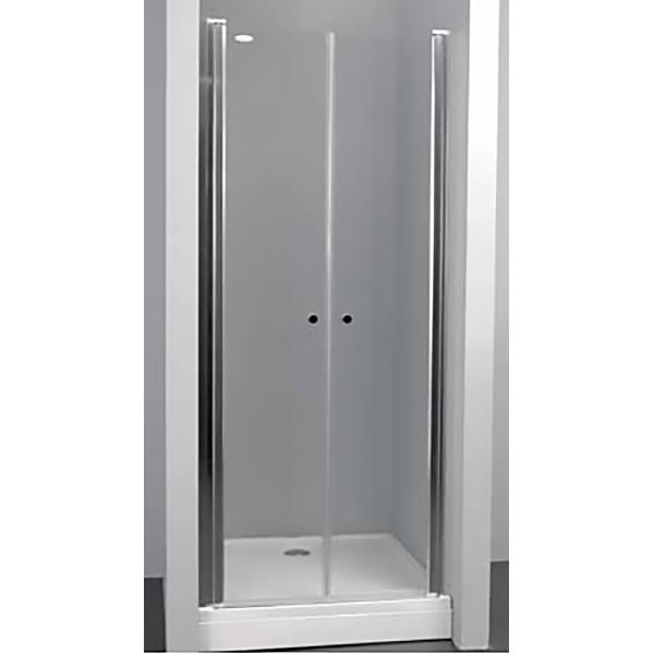 Terra flat TV/S 80 Salon ХромДушевые ограждения<br>Душевая дверь в нишу Kolpa San Terra flat TV/S 80 Salon с двумя распашными дверями.<br><br>Профиль:<br>Материал: алюминий.<br>Цвет профиля: хром.<br>Покрытие Silver Brill: высококачественная гальваническая полировка.<br>Высокая герметичность.<br>Магнитный профиль.<br><br>Стекло:<br>Прозрачное закаленное стекло.<br>Толщина: 6 мм.<br>Встроенные в стекло хромированные петли.<br><br>Непревзойденное качество, подтвержденное европейским сертификатом.<br>