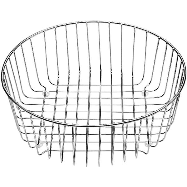Rondoval Нержавеющая стальКомплектующие<br>Корзина для посуды Blanco Rondoval 220574. Гармоничный дизайн, практичность, расширение функциональности и удобства работы на кухне. Многофункциональный аксессуар, который может использоваться для мытья фруктов и овощей или сушки посуды.<br>Конструкция:<br><br>Рабочее положение: в чаше мойки или на крыле.<br>Защита раковины от механических воздействий.<br>Экономия места.<br>Материал: нержавеющая сталь.<br>Диаметр: 36,5 см.<br>Высота: 13 см.<br><br>В комплекте поставки:<br><br>корзина для посуды.<br><br>