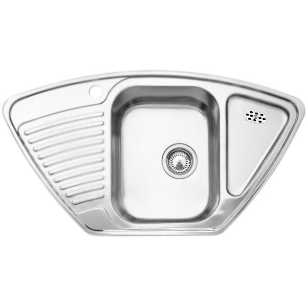 Tipo 9 E Матовая стальКухонные мойки<br>Угловая кухонная мойка Blanco Tipo 9 E 511582 из нержавеющей стали, с объемной большой чашей и удобными крыльями по бокам. Интегрированный дополнительный слив в крыле.<br>Конструкция:<br><br>Универсальная ориентация.<br>Материал: высококачественная нержавеющая сталь.<br>Поверхность: матовая полировка.<br>Устойчивость к коррозии, высоким температурам и кислотам.<br>Стойкость образованию пятен и выцветанию.<br>Легкость в очистке, безопасность и гигиеничность.<br>Монтаж: встраиваемый сверху или в один уровень под столешницу.<br>Совет по ширине тумбы под мойку: столешница 60 см, угол 90x90 см.<br>Рекомендации по монтажу: учитывать ширину пристенного канта.<br><br>В комплекте поставки:<br><br>чаша мойки;<br>отводная арматура с корзинчатым вентилем 3 1/2.<br><br>