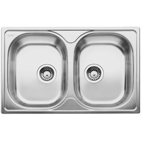 Tipo 8 Compact Матовая стальКухонные мойки<br>Оборачиваемая кухонная мойка Blanco Tipo 8 Compact 513459 из нержавеющей стали, с двумя большими и объемными чашами.<br>Конструкция:<br><br>Материал: высококачественная нержавеющая сталь.<br>Поверхность: матовая полировка.<br>Устойчивость к коррозии, высоким температурам и кислотам.<br>Стойкость образованию пятен и выцветанию.<br>Легкость в очистке, безопасность и гигиеничность.<br>Монтаж: встраиваемый сверху.<br>Совет по ширине тумбы под мойку: 80 см.<br>Рекомендации по монтажу: учитывать ширину пристенного канта.<br><br>В комплекте поставки:<br><br>чаша мойки;<br>отводная арматура с двумя корзинчатыми вентилями 3 1/2.<br><br>