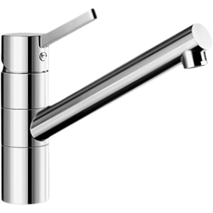 Tivo Алюметаллик ХромСмесители<br>Смеситель для кухни Blanco Tivo Silgranit 517601 однорычажный, с поворотным изливом, с аэратором, монтируемый в одно отверстие. Вращающийся на 360 градусов излив для легкого мытья и наполнения кастрюль. Эргономичный рычаг управления. Соответствует европейским качеству и гигиеническим стандартам.<br>Конструкция:<br><br>Комбинированный цвет: алюметаллик Silgranit и глянцевый хром.<br>Материал корпуса: латунь.<br>Поворотный излив: 360 градусов, L 21,5 см.<br>Высота смесителя: 20 см.<br>Аэратор: запатентованный рассекатель, защита от отложения налета.<br>Механизм: дисковый керамический картридж.<br>Монтаж: на одно отверстие, D 3,5 см.<br>Стабилизирующая пластина: увеличение устойчивости.<br>Подводка: гибкая, с гайкой, G 3/8, L 45 см.<br>Легкость и надежность в установке.<br>Одобрено: LGA. Сертификат: DVGW.<br><br>В комплекте поставки:<br><br>смеситель;<br>гибкая подводка;<br>комплект креплений.<br><br>