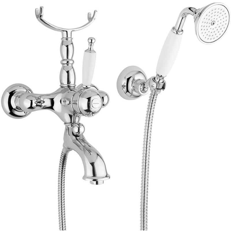Смеситель для ванны Bugnatese Oxford 6302 CRDO (хром-золото)