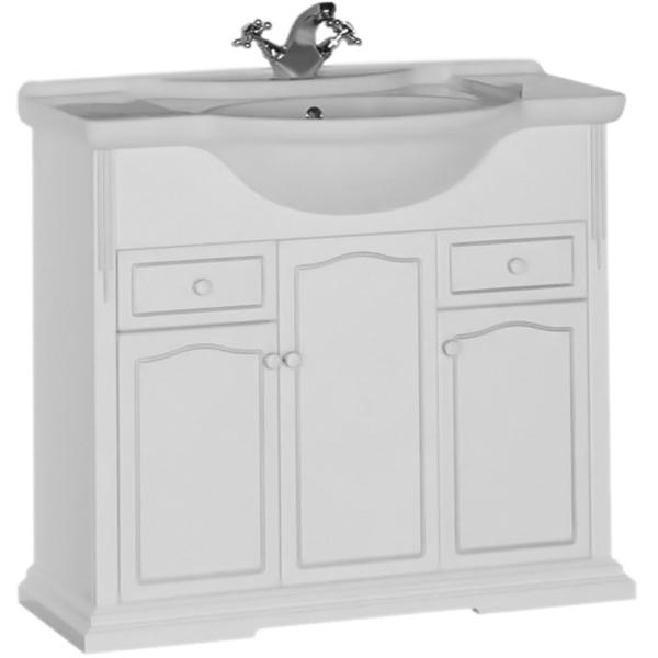 Тулуза 90 БелаяМебель для ванной<br>Напольная тумба под раковину Aquanet Тулуза 90 00182017. Простые формы, дополненные изысканным объемным декором, демонстрируют строгость и элегантность классического стиля.<br>Материалы:<br><br>Для использования в ванных комнатах с повышенной влажностью.<br>Покрытие: белое матовое.<br>Корпус: ЛДСП.<br>Фасад: МДФ.<br><br>Отделения:<br><br>правое/левое нижнее: распашная дверца, горизонтальная полка;<br>правое/левое верхнее: выдвижной ящик;<br>центральное: распашная дверца, горизонтальная полка.<br><br>В комплекте поставки:<br><br>тумба.<br><br>